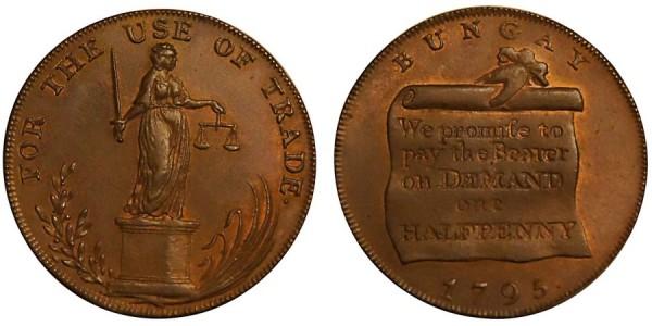SUFFOLK Bungay Halfpenny. 1795 DH 21A
