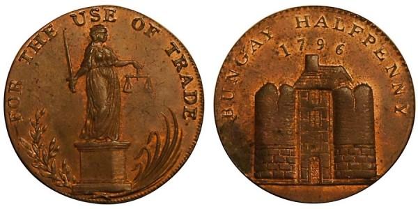 SUFFOLK. Bungay Halfpenny. 1795. DH 24