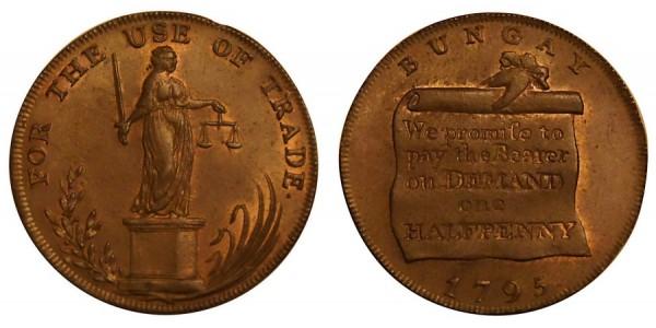 SUFFOLK Bungay Halfpenny. 1795. DH 21