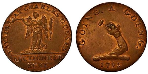 SUFFOLK Bury Halfpenny. 1795 DH 30