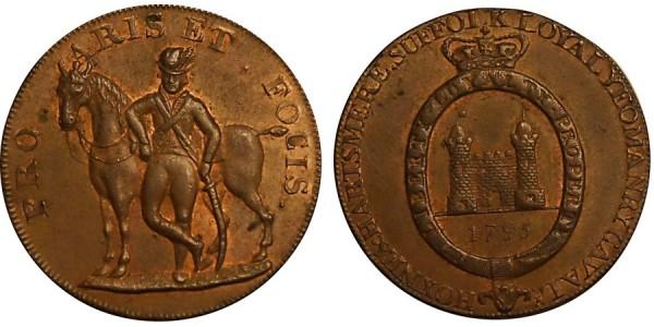 SUFFOLK. Hoxne . 1795. DH 33A