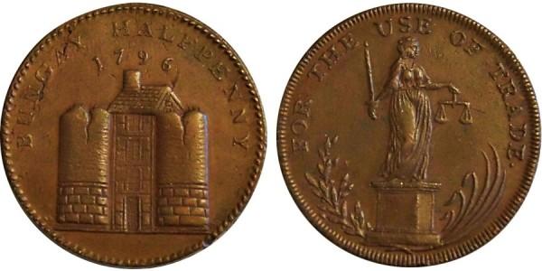 SUFFOLK. Bungay Halfpenny. 1795. DH 3