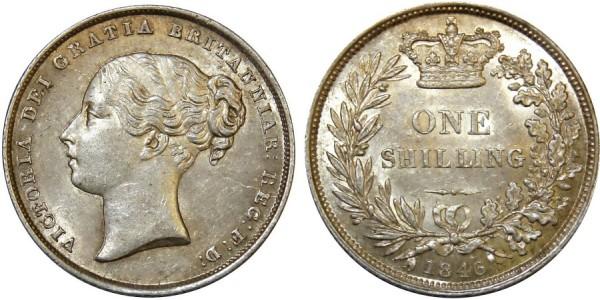 Victoria, Silver Shilling, 1846