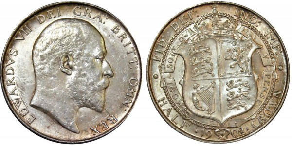 Edward VII, Silver Half-crown 1902