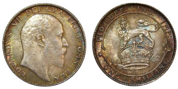 Edward VII, Silver Shilling, 1902.