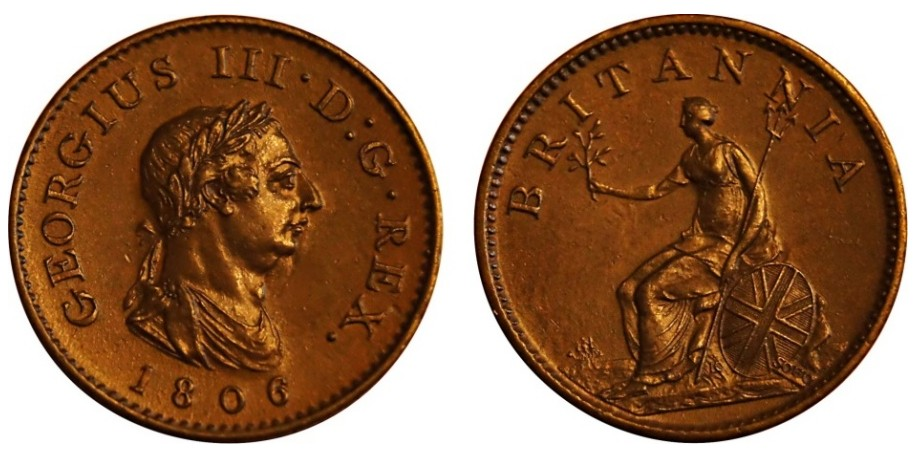 George III, Copper Farthing, 1771