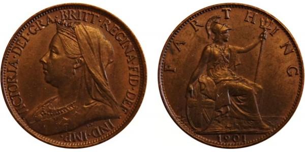 Victoria, Bronze Farthing. MT. 1901