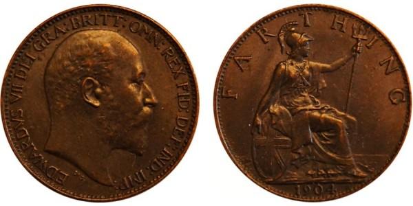 Edward VII, Bronze Farthing. MT. 1904.