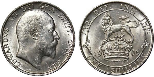 Edward VII, Silver Shilling, 1906.