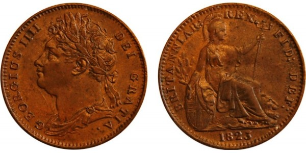 George IV, Copper Farthing, 1823