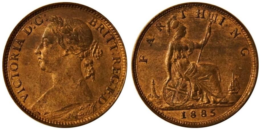 Victoria, Bronze Farthing, 1885
