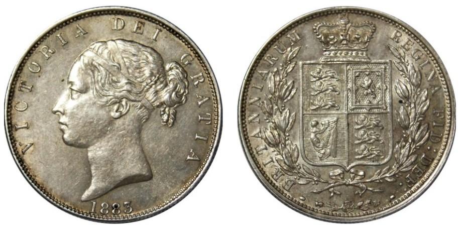 Victoria, Silver Half-crown, 1883.