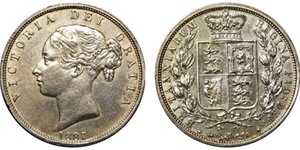Victoria, Silver Half-crown, 1887.