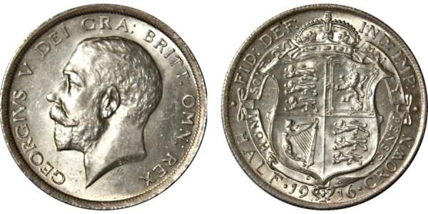 George V, Silver Half-crown, 1916