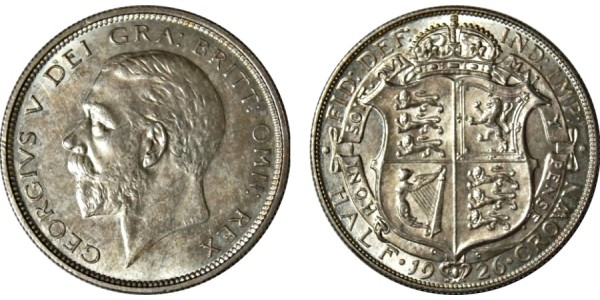 George V, Silver Half-crown. 1926.