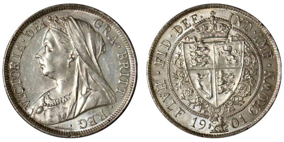 Victoria, Silver Half-crown. 1901.