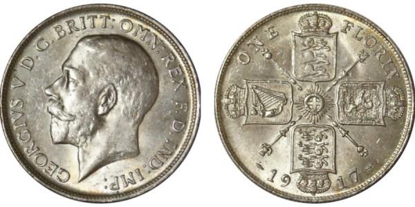 George V. Silver Florin. 1917