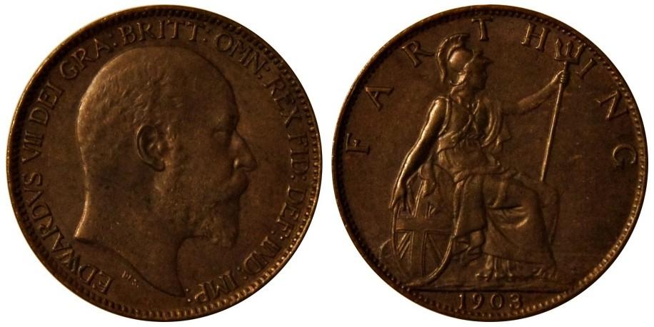 Edward VII, Bronze Farthing. MT. 1903.