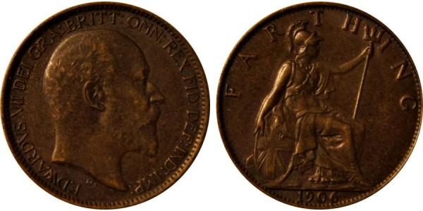 Edward VII, Bronze Farthing. MT. 1906.