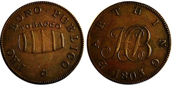 Middlesex, Pro Bono Publico Farthing.  DH 1174 A