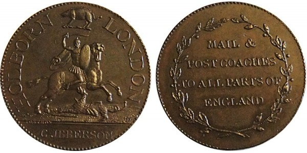 Middlesex, Ibberson's Halfpenny Token.  DH 342