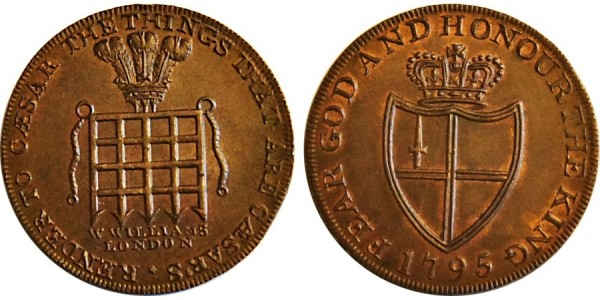 Middlesex. William's Halfpenny.  1795. DH 916