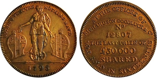 Middlesex, Richardson's Halfpenny. 1795. DH 467.