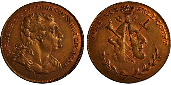 Middlesex. Sim's Halfpenny.  DH 478a