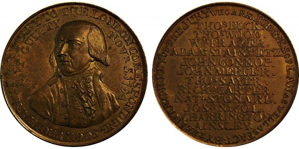 Middlesex.  Political & Social Series Penny.  DH 205.