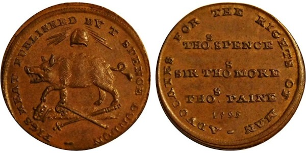 Middlesex. Spence's Farthing Token.  DH 1117