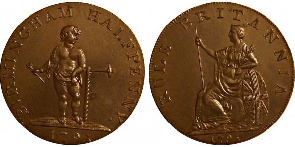Warwickshire. Birmingham Halfpenny 1793. DH 53.
