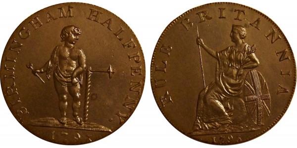 Warwickshire. Birmingham Halfpenny. 1796. DH 56.