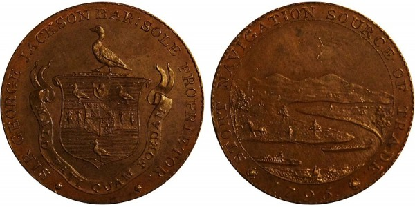 Hertfordshire. G. Jackson Halfpenny Token. 1795. DH 4