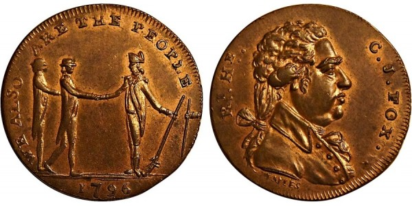 Middlesex. Spence's Halfpenny Token. 1796 DH 770