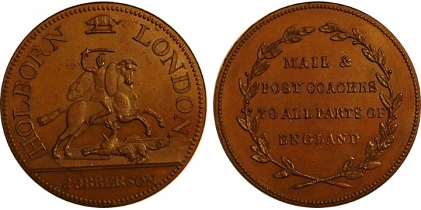 Middlesex. Ibberson's Halfpenny. 1870. DH 343