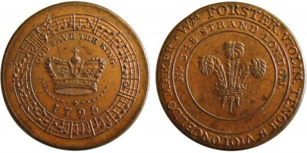 Middlesex. W. Forster's Halfpenny.  1795. DH 302