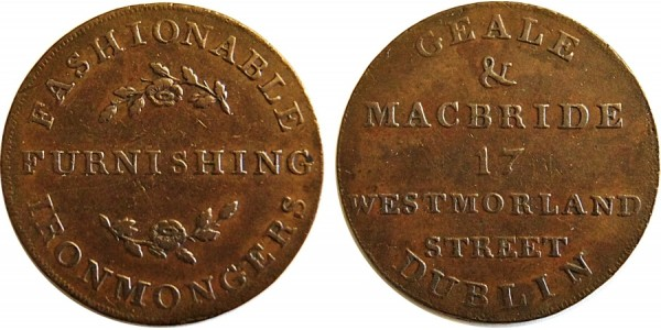 Co Dublin. Dublin Halfpenny .DH 309 Bis. W.1813