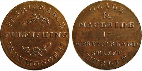 Co Dublin. Dublin Halfpenny .DH 309 Bis. W. 1813