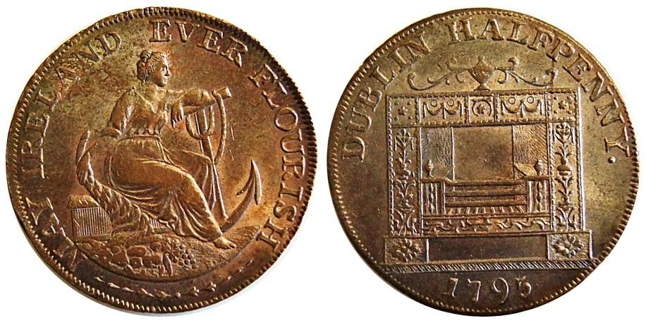 Co Dublin. Parker's Halfpenny. 1795. DH 352.