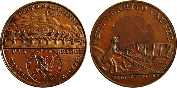 Perthshire. Perth Halfpenny. 1797. DH 1.