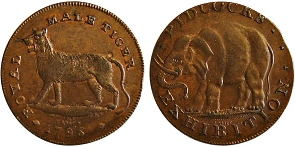 Middlesex. Pidcocks Halpenny. 1796. DH 418.