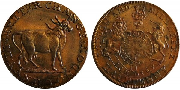 Middlesex. Pidcocks Halfpenny. DH 455.