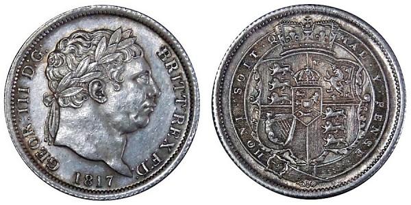 George III, Silver Shilling, 1817.