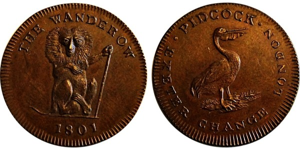 Middlesex. Pidcock's Farthing Token. DH 1073