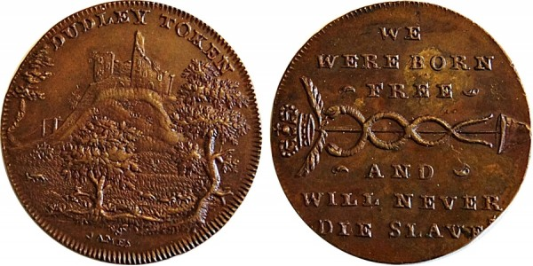 Worcestershire. Spence's Mule Halfpenny. DH 11.