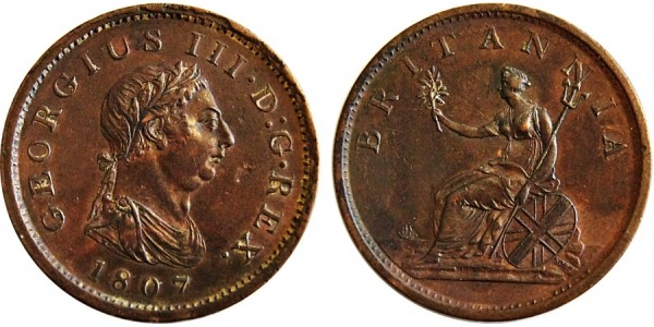 George III, Copper Penny, 1807.