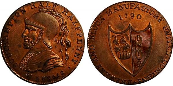 Hants. Westwood Farthing Token. 1790. DH 96