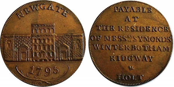 Middlesex. Newgate Prison Halfpenny. 1795. DH 396B