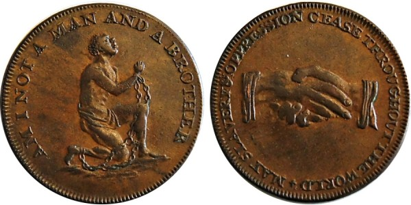 Middlesex. Anti-slavery Halfpenny Token. DH 1081i.