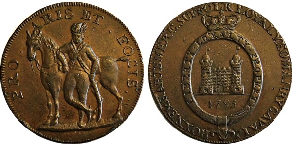 Suffolk. Hoxne Halfpenny. 1795. DH 33A
